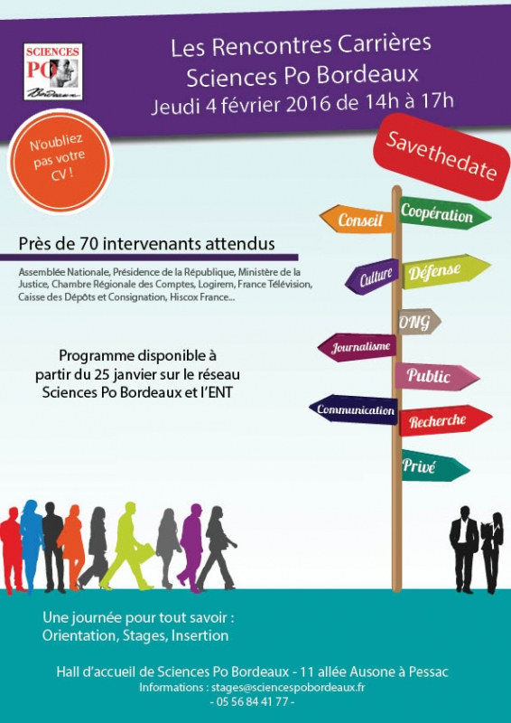 Save the date Rencontres Carrières de Sciences Po Bordeaux