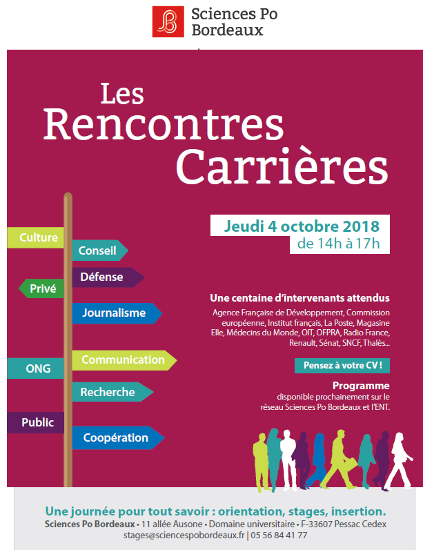 Save the date ! Rencontres Carrières le 4 Octobre 2018